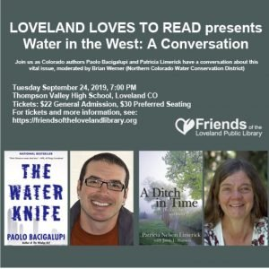 Loveland Loves to Read - Paolo Bacigalupi and Patricia Limerick, Water In the West